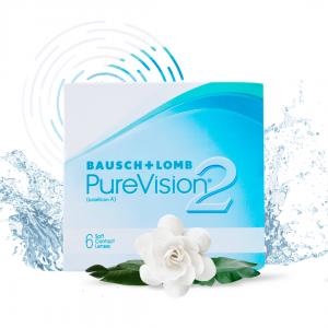 Контактные линзы Pure Vision 2 HD 6 шт.