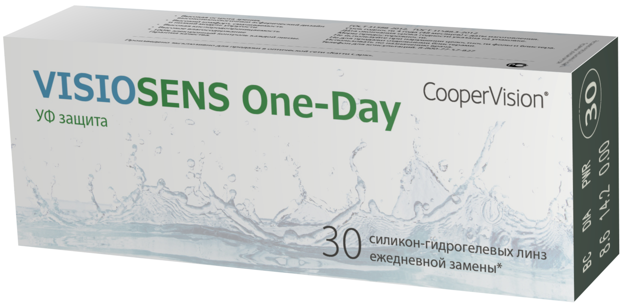 Контактные линзы VISIOSENS One-Day 30 шт.