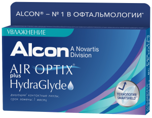Контактные линзы Air Optix plus HydraGlyde 3 шт.